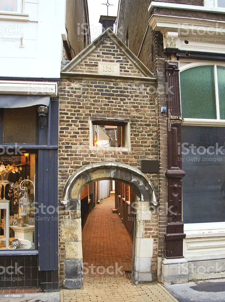 In the Dutch town of Gorinchem . Netherlands stock photo