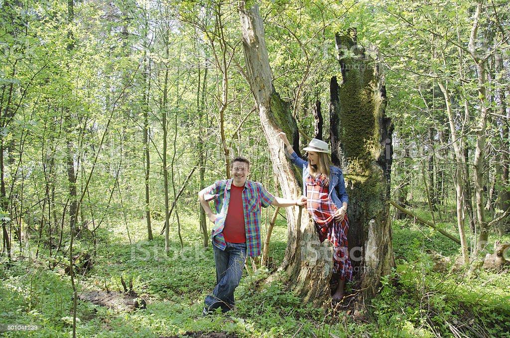 Na floresta foto de stock royalty-free