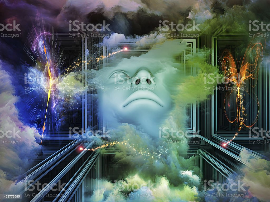 In the gallery of our Lord. stock photo