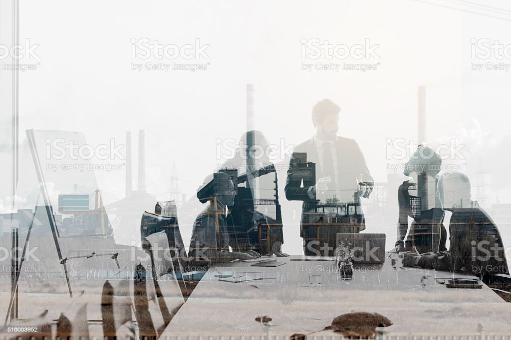 In the game of success collaboration is king stock photo