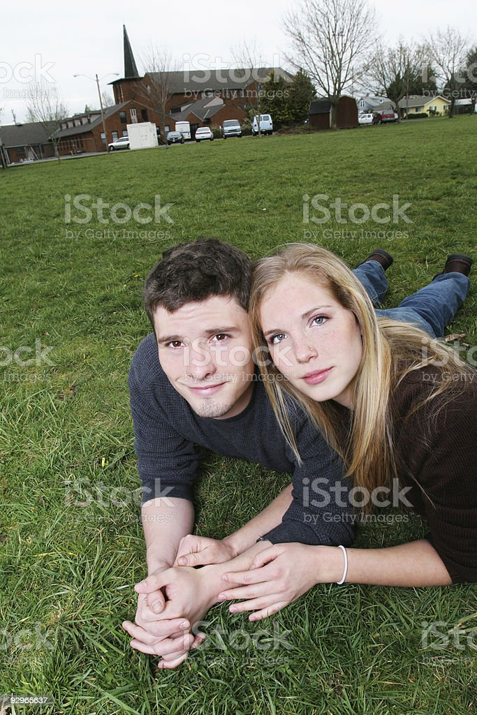 In the Grass royalty-free stock photo