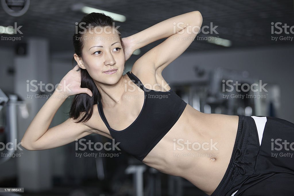 In the gym royalty-free stock photo