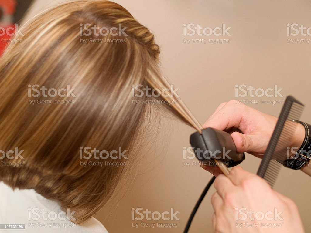 In the hair salon royalty-free stock photo