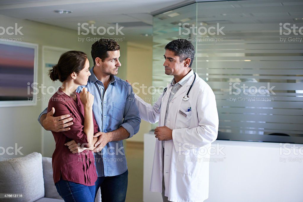 In the hands of a caring professional stock photo
