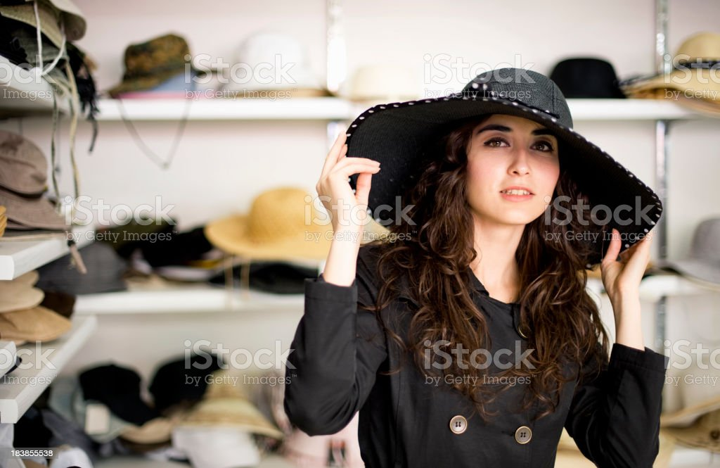 In The Hat Shop stock photo