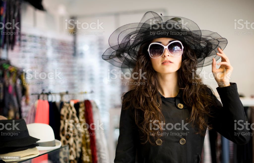 In The Hat Shop royalty-free stock photo