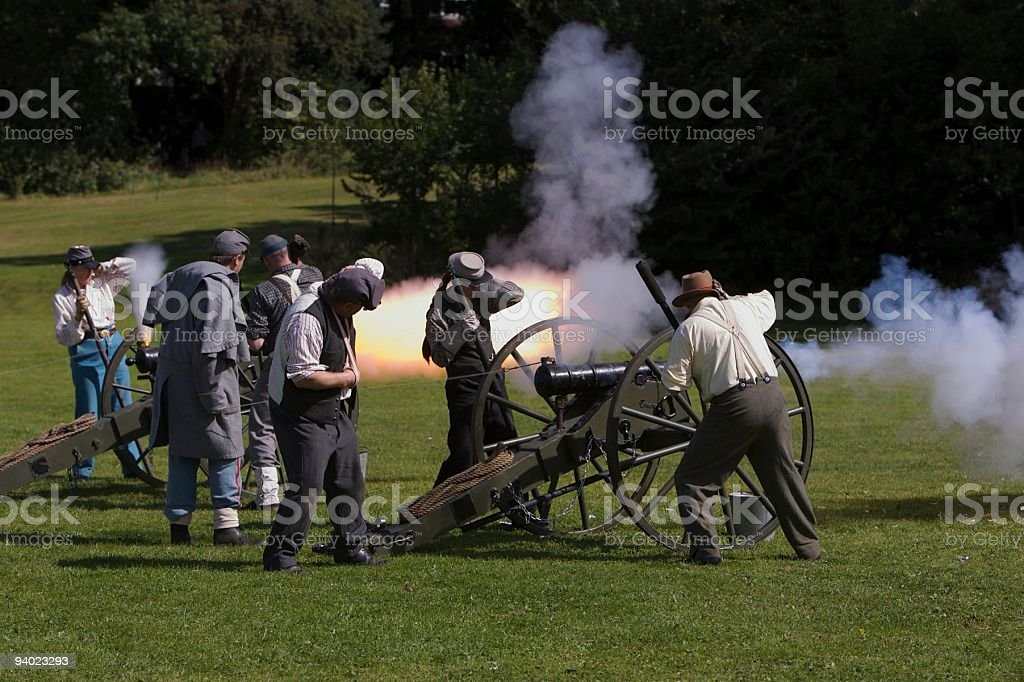 In the Heat of Battle stock photo
