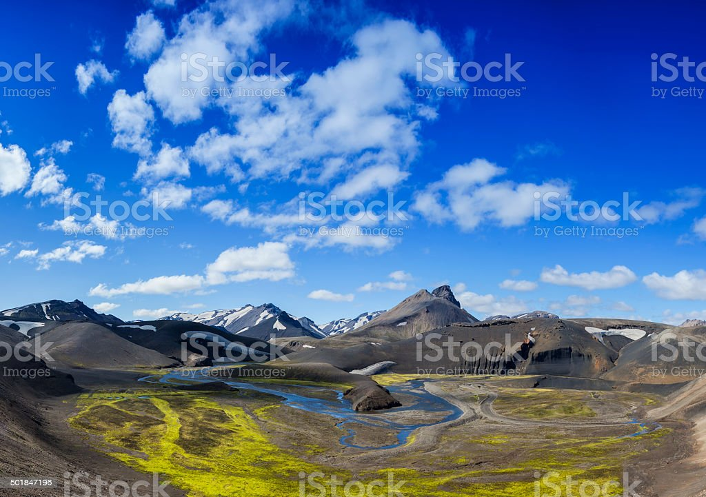 In the highlands of Iceland stock photo