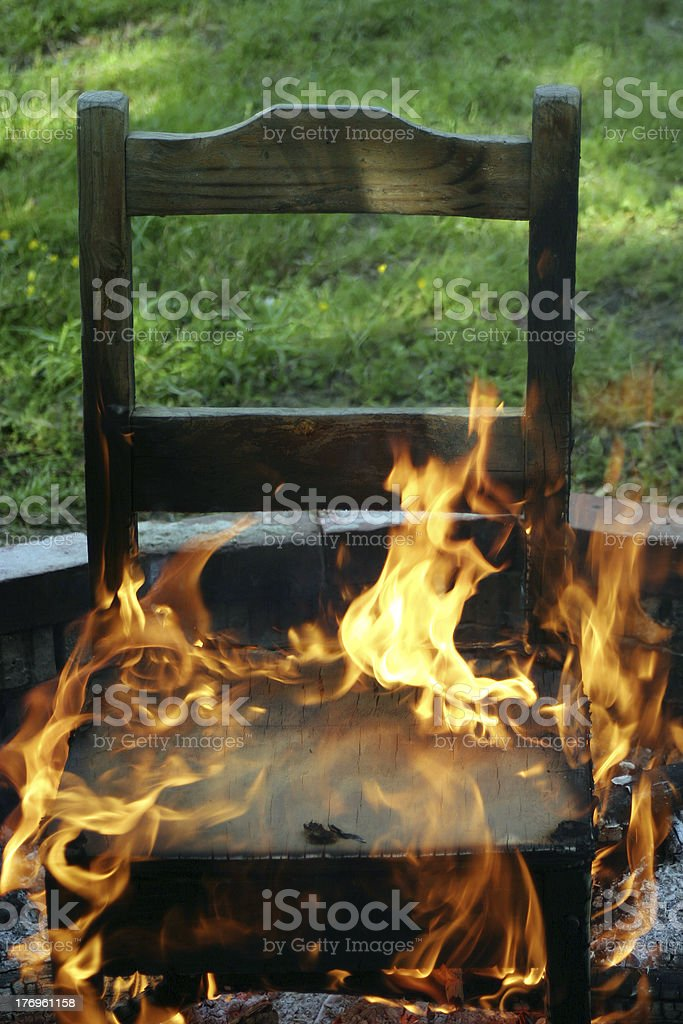 In The Hot Seat royalty-free stock photo