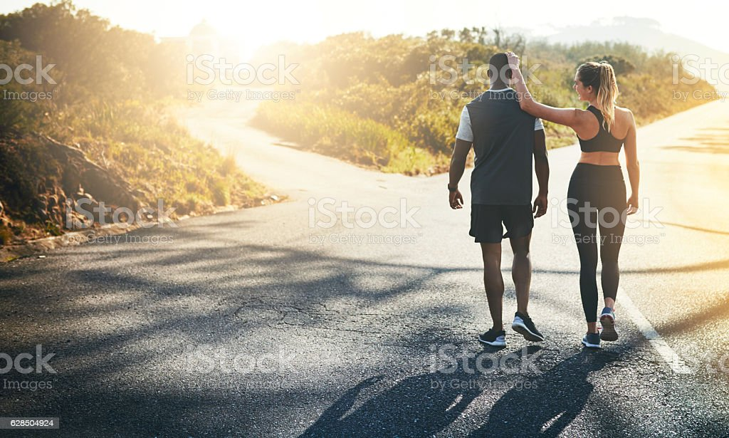 In the journey to fit as a couple stock photo