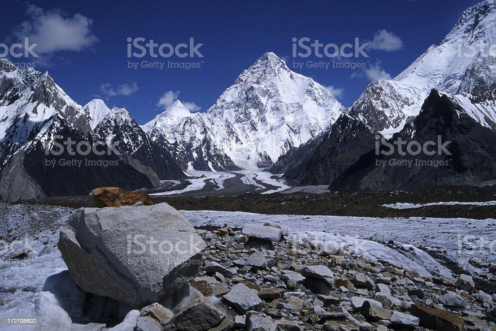 K2 in the Karakoram royalty-free stock photo