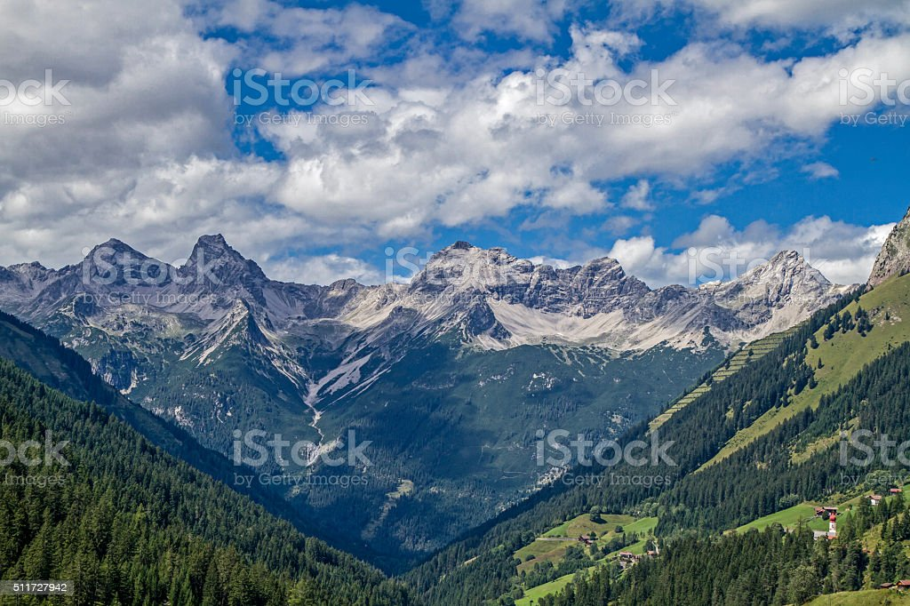 In the Lechtal Alps stock photo