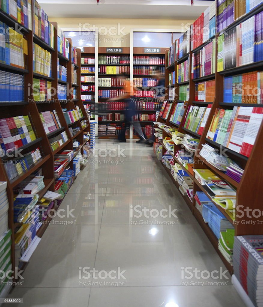 In the Library royalty-free stock photo