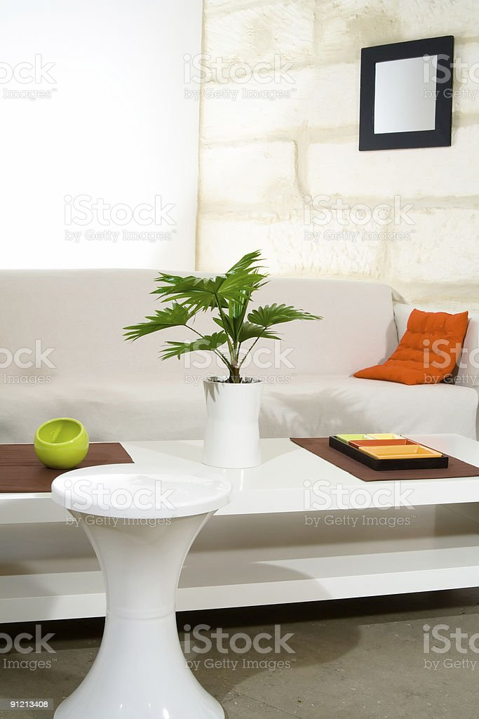 In the living room royalty-free stock photo