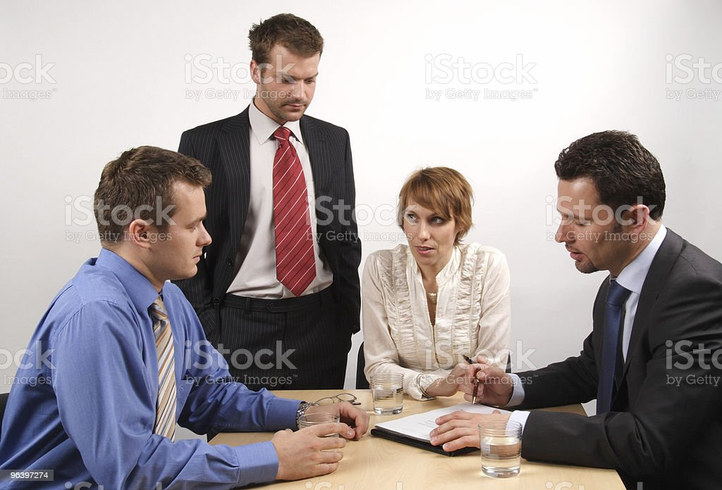 in the middle of meeting royalty-free stock photo