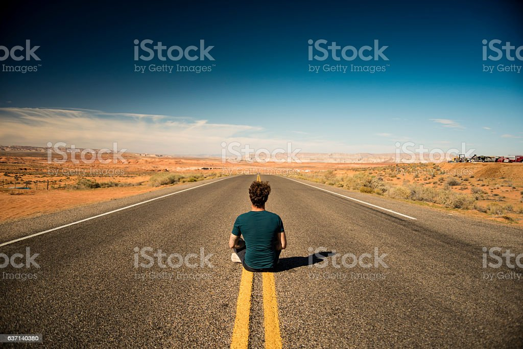 In the middle of nowhere stock photo
