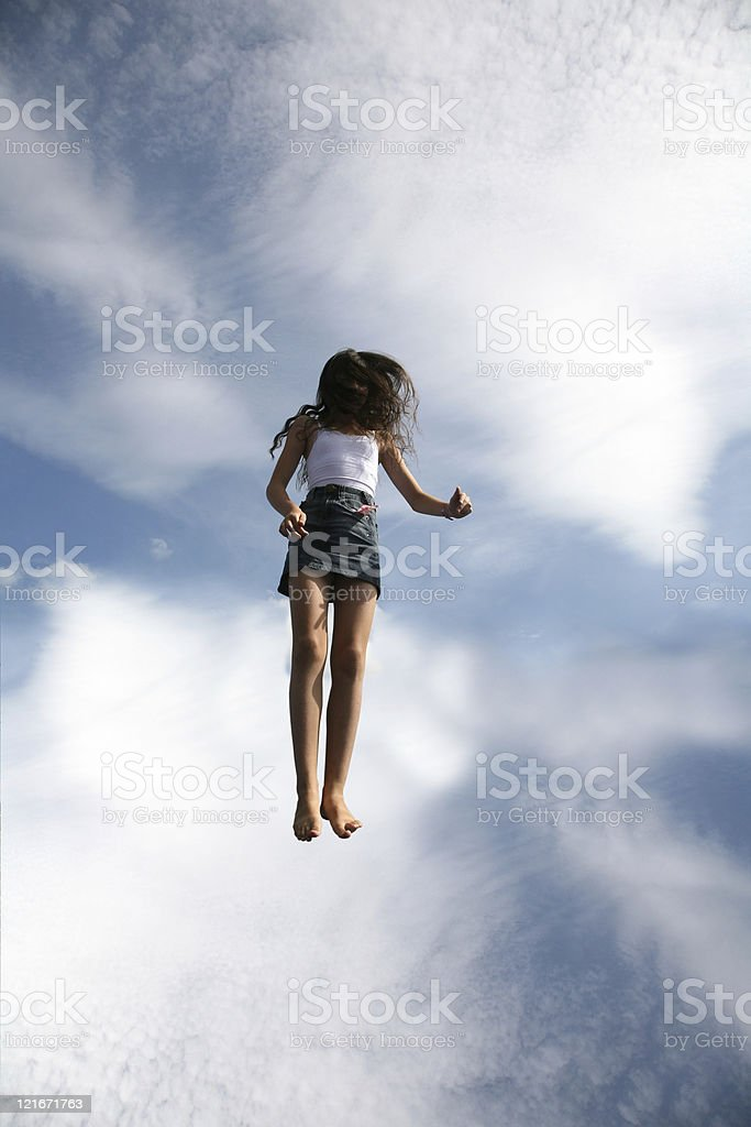 In the middle of sky royalty-free stock photo