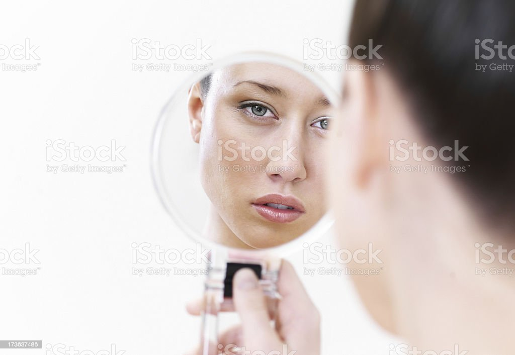 In the miror royalty-free stock photo