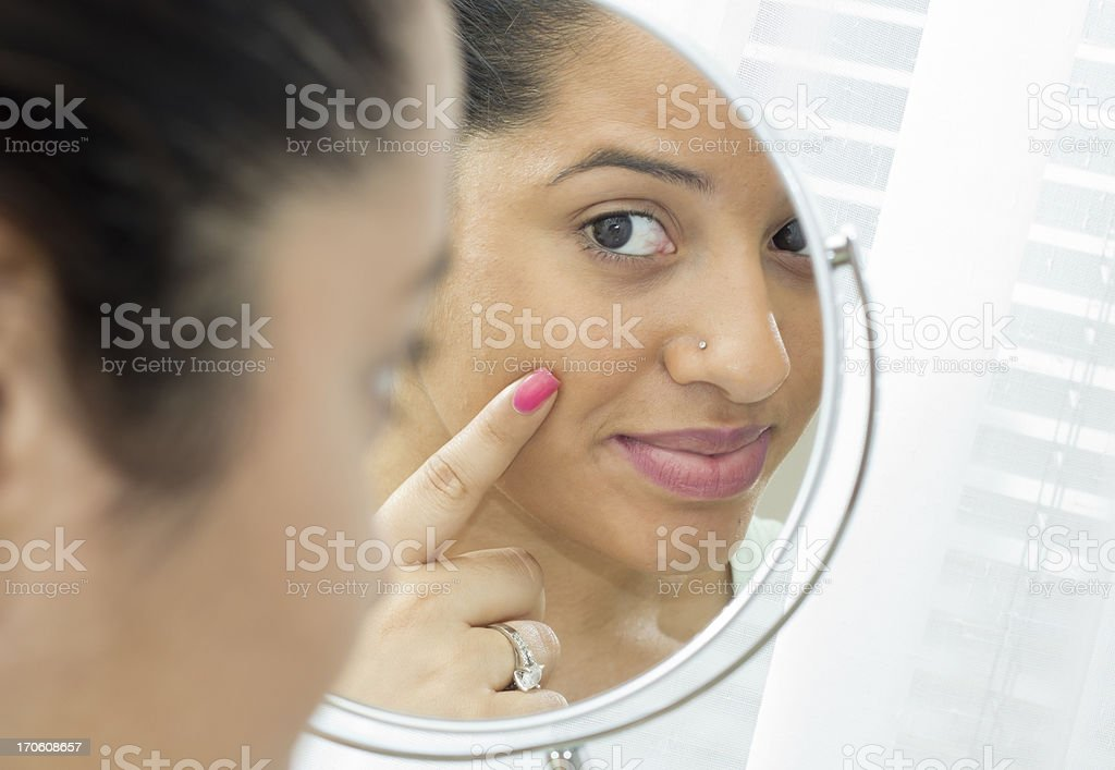 In the mirror stock photo