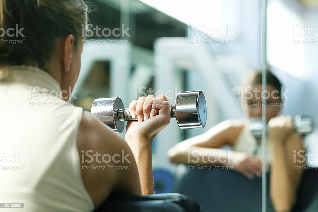 In the mirror royalty-free stock photo
