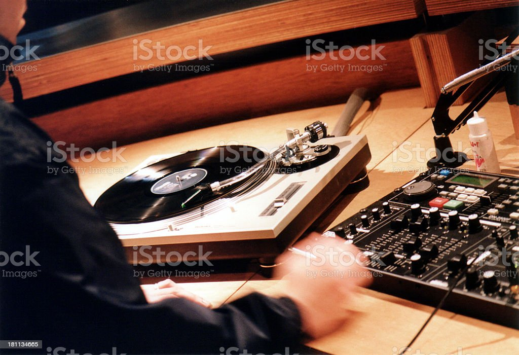 DJ in the Mix royalty-free stock photo