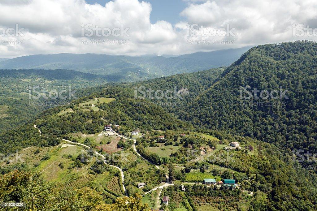 In the mountains of Abkhazia stock photo