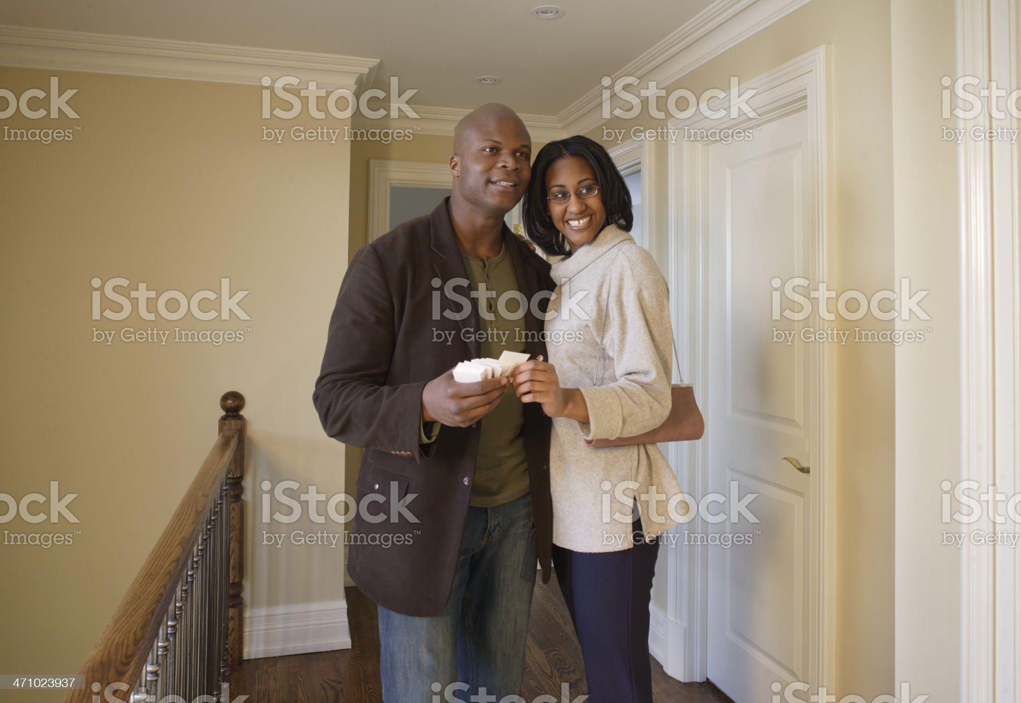 In the new home royalty-free stock photo