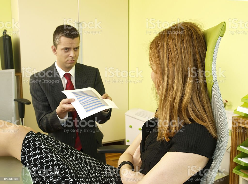 In the office royalty-free stock photo