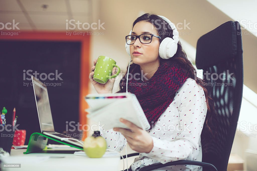 In the office stock photo
