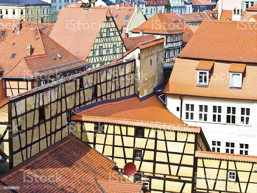 In the old town of Bamberg stock photo