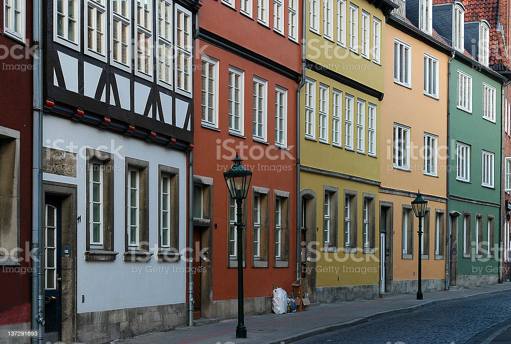 In the old town of Hannover Germany royalty-free stock photo