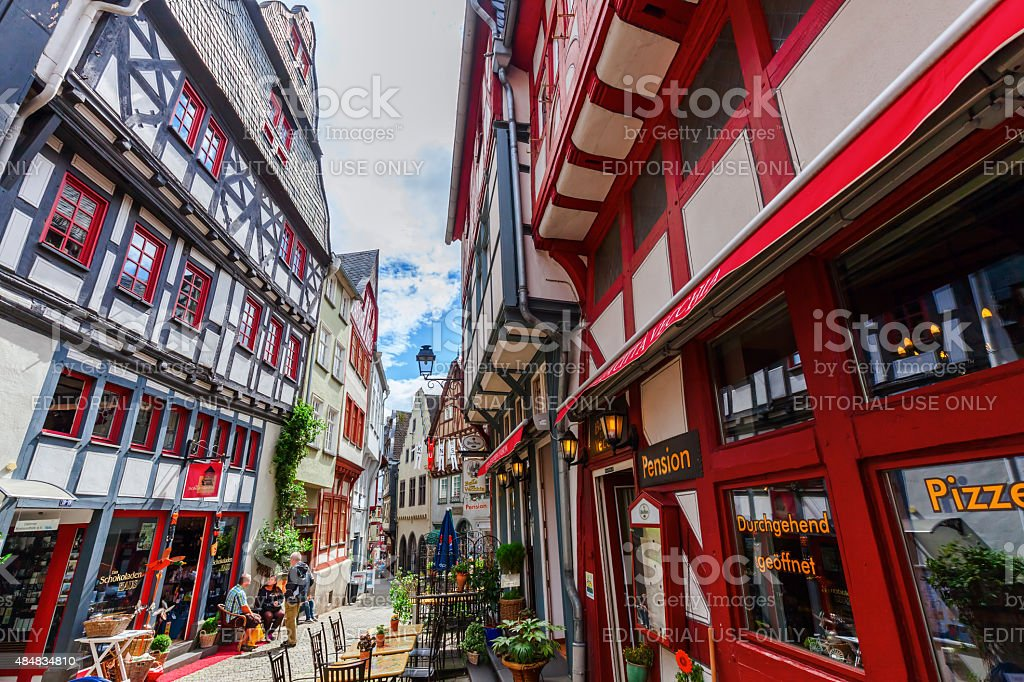 in the old town of Limburg an der Lahn, Germany stock photo