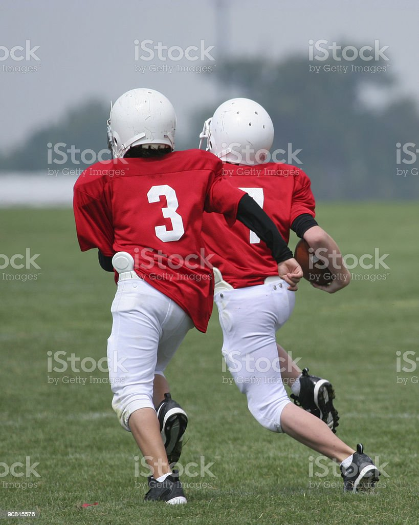 In The Open Field (American Football) royalty-free stock photo