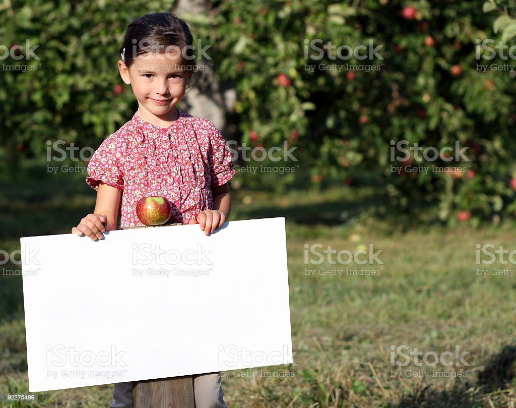 In the orchard royalty-free stock photo