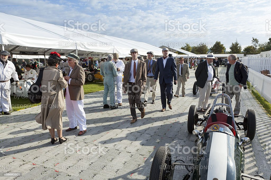 In the paddock at Goodwood Revival stock photo