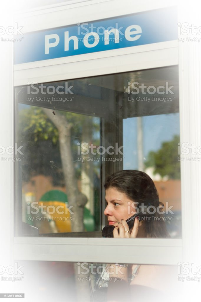 In the Phone Booth stock photo