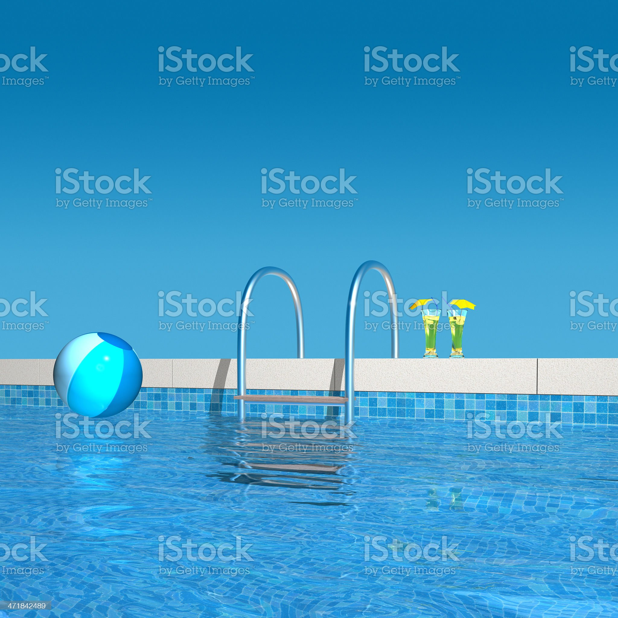 In the pool royalty-free stock photo