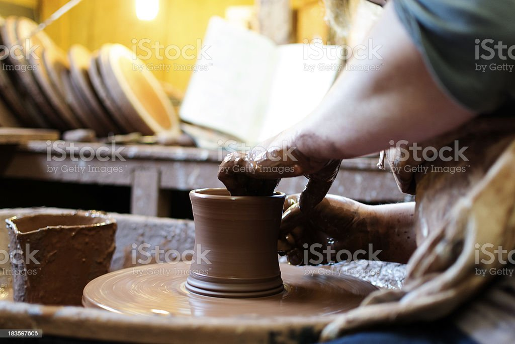 In the potters workshop stock photo
