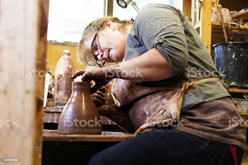 In the potters workshop royalty-free stock photo