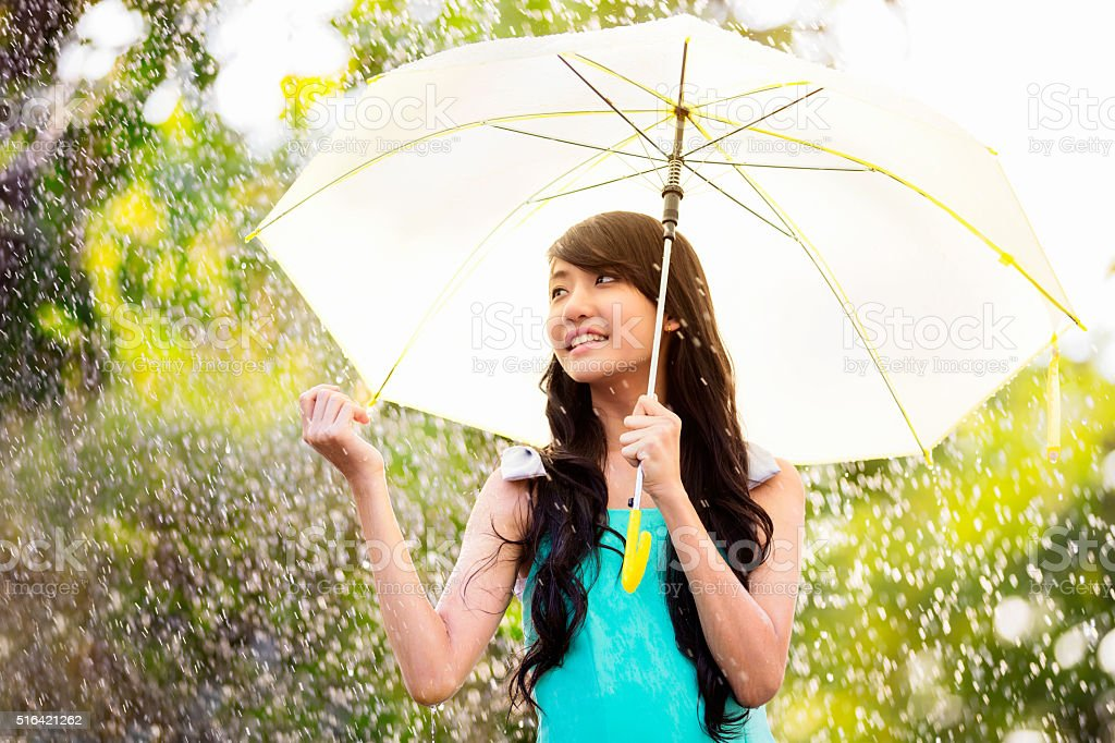 In the rain stock photo