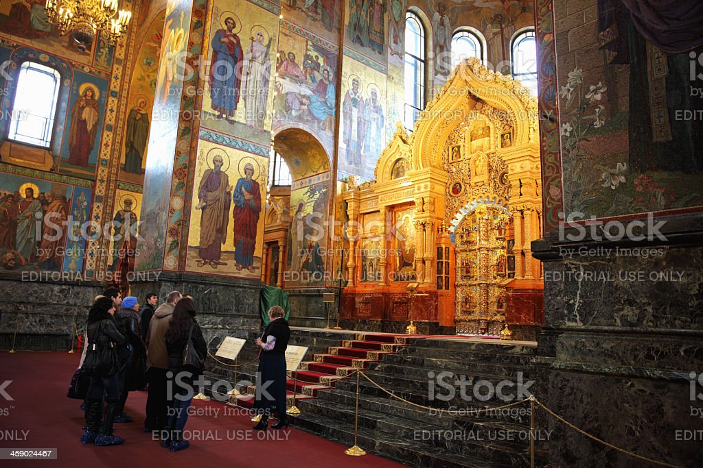 In the Resurrection of Christ Church (St. Petersburg, Russia) stock photo