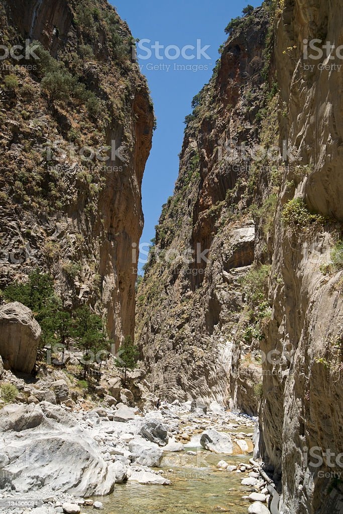 In the Samaria Gorge royalty-free stock photo