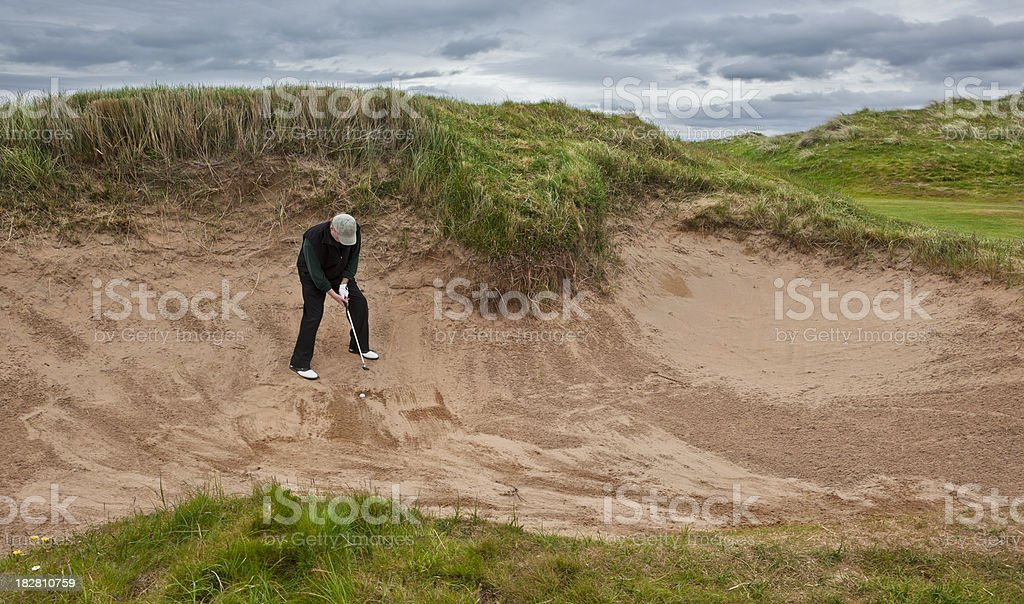 In the Sandtrap royalty-free stock photo