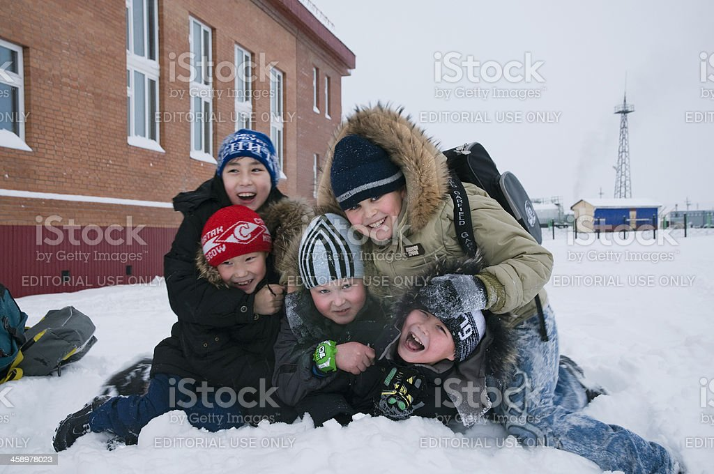 In the school yard. royalty-free stock photo