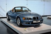 BMW Z3 in the showroom