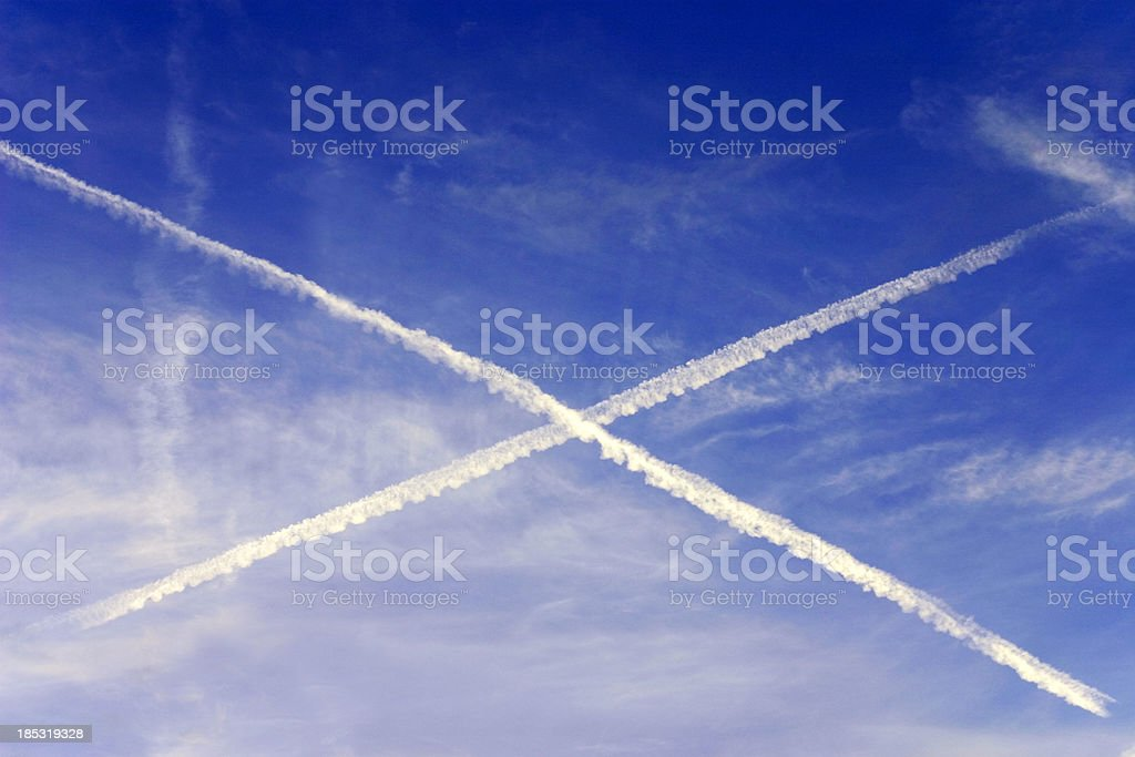 X in the Sky stock photo