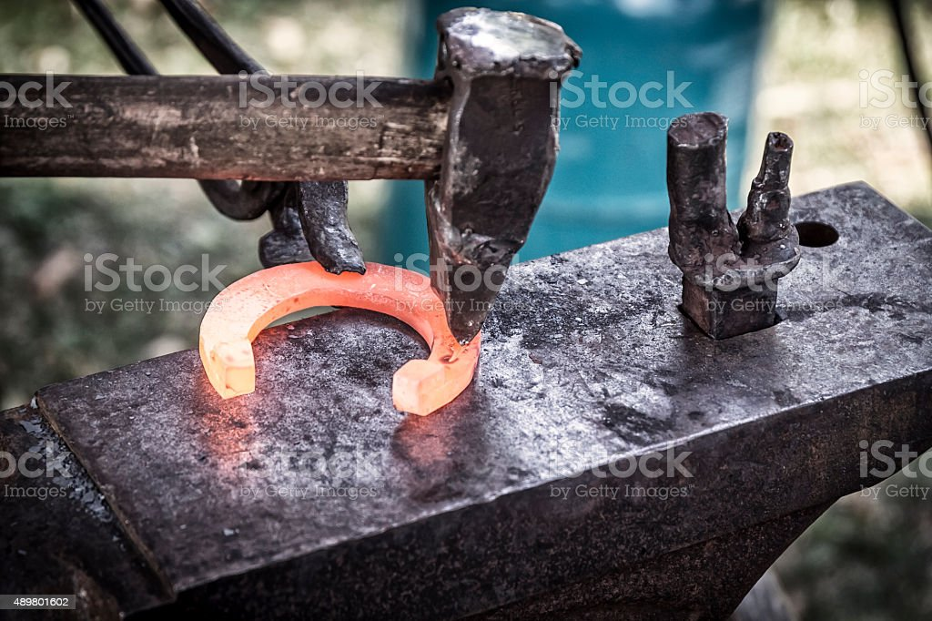 In the smithy stock photo