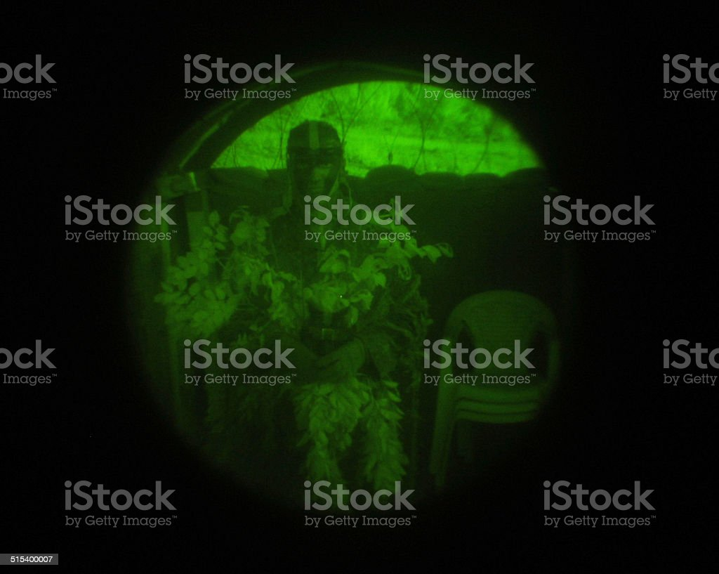 In the sniper's sights stock photo