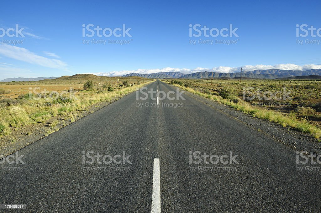 R407 in the southafrican Karoo desert royalty-free stock photo