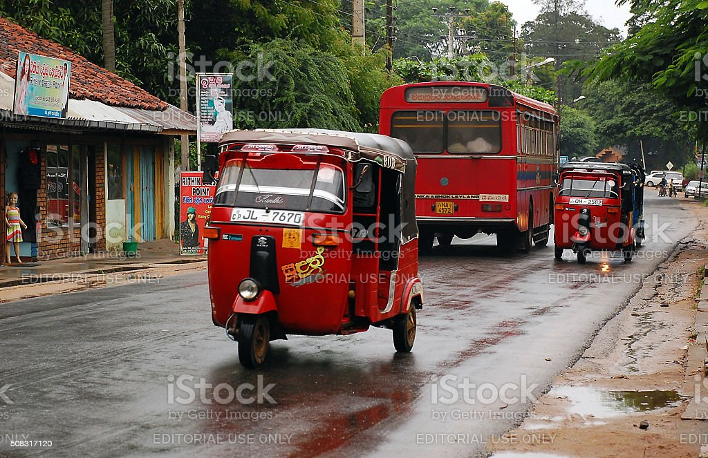 In The Street In Sri Lanka stock photo